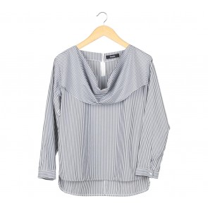 Pomelo. Grey And White Blouse
