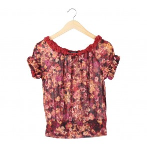 Mango Multi Colour Floral Blouse