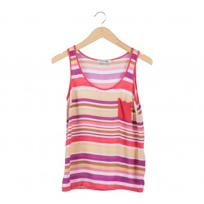 Forever 21 Multi Colour Striped Sleeveless