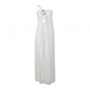 Biyan Off White Beaded Long Dress