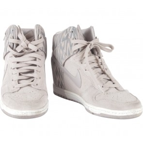 Nike Cream Wmns Dunk Sky High Print Sneakers