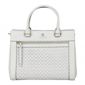 Kate Spade Off White Perri Lane Bubbles Romy Satchel
