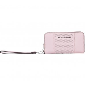 Michael Kors Pink Microstud Center Stripe Wallet