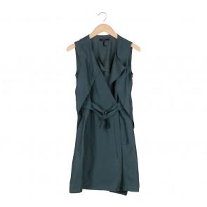 BCBG Maxazria Dark Green Belted Vest
