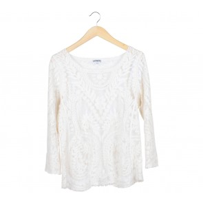 Express Cream Lace Blouse
