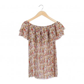 Kitschen Multi Colour Floral Off Shoulder Blouse