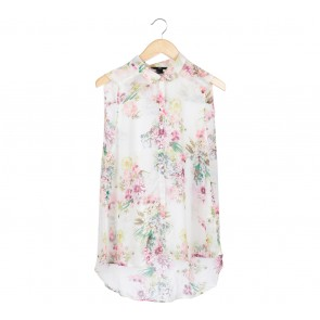 H&M White Floral Sleeveless
