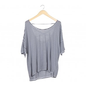 Old Navy White Striped Blouse