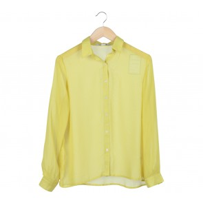 Forever 21 Yellow Plain Shirt