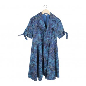 Max Mara Blue Patterned Outerwear