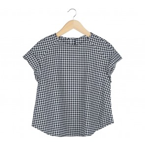 Zara Black Plaid Blouse