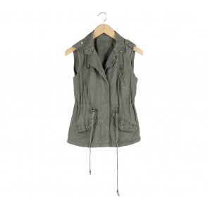 Denim Co Green Vest