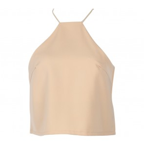 Cream Backless Cropped Sleeveless