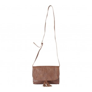 Mango Brown Tassel Sling Bag