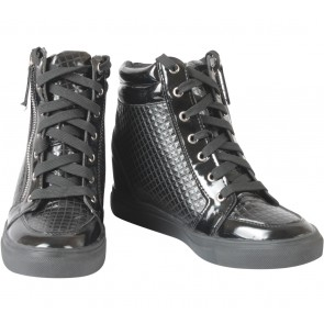 Tracce Black Wedges Sneakers