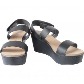 VNC Black Platform Wedges