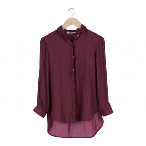 Kivee Maroon Dotted Shirt