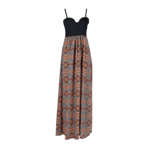 Forever 21   Multi Colour Batik Tube Long Dress