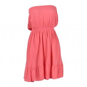 Divided   Peach Tube Mini Dress