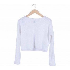 H&M White cropped sweater Sweater
