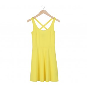 H&M   Yellow Criss Cross Sleeveless Mini Dress