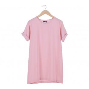 Cosmo Pink Loose Mini Dress