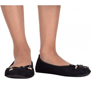 Butterfly Twists Black Flats