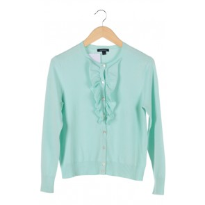 Green Ruffled Tiffany Cardigan