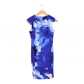 CMNC Women Multi Colour Blue Midi Dress