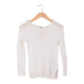GAP White Knit Wear Sweater