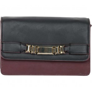 Zara Black And Maroon Sling Bag