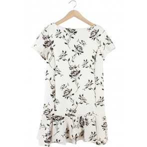 Zara Cream Floral Mini Dress