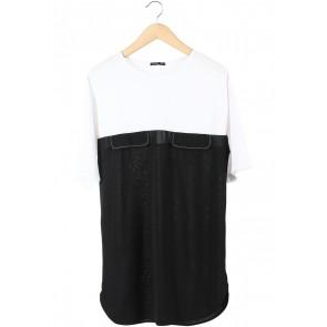 Zara White And Black Mini Dress