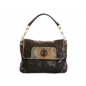 Anya Hindmarch Brown Snakeskin Shoulder Bag