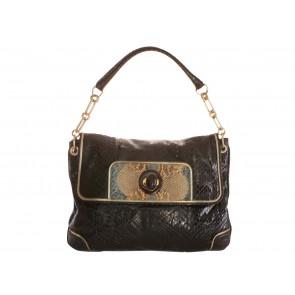 Anya Hindmarch Brown Snakeskin Shoulder Bag