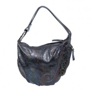 Fendi Black Metallic Oyster Tote Bag