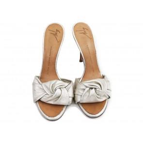Giuseppe Zanotti Silver Sandals