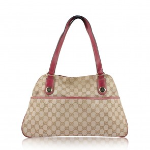Gucci Cream with Pink Trim Canvas Tote Bag