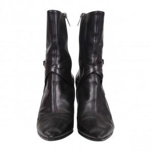 Jimmy Choo Black Leather Knee High Boots