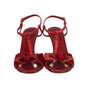 Louis Vuitton Red Sandals