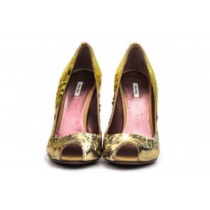 Miu Miu Gold Heels