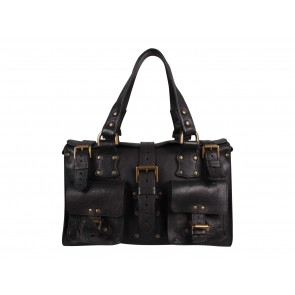 Mulberry Black Roxanne Tote Bag
