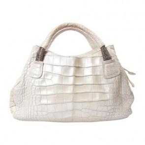 Nuti Silver Tote Bag