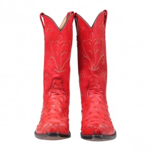 Billy Martin´s Red Ostrich Cowboy Boots