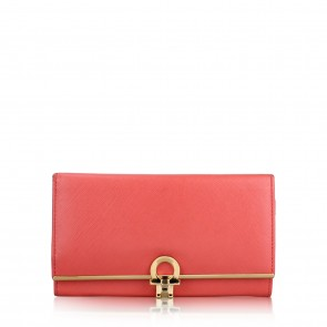 Salvatore Ferragamo Pink Gancini Wallet