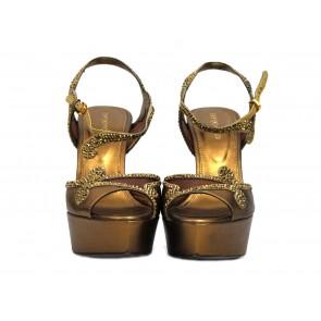 Sergio Rossi Bronze Sandals