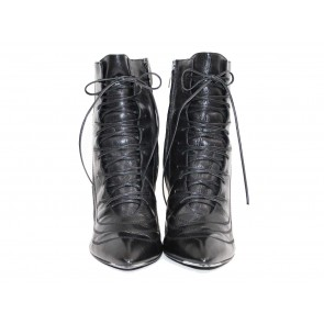 Sergio Rossi Lace-Up Booties