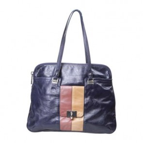 Marc Jacobs Dark Blue And Brown Tote Bag