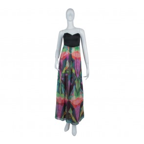 Forever New Multi Colour Abstract Long Dress
