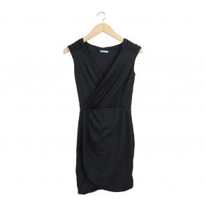 Kookai Black Wrap Mini Dress